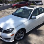 2014 Mercedes Benz C250 White 4 door