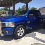 2014 RAM 1500, blue truck