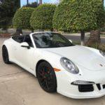 2016 Porsche 911 GTS, convertible, white