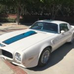 1973 Trans Am, 2 door, white, blue center strip