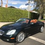 2003 Lexus SC 430, convertible, black, 2 door