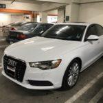 2013 Audi A6, white, 4 door