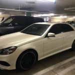 2014 Mercedes Benz E-350, white, 4 door