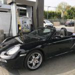 2008 Porsche Boxter, black, convertible