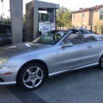 2005 Mercedes Benz CLK 500, silver 2 door, convertible
