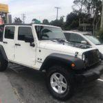 2009 Jeep Wrangler Unlimited, 4 door, white