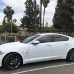 2017 Jaguar XJ, 4 door, white