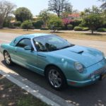 2002 Ford Thunderbird, blue, 2 door