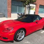 2005 Chevrolet Corvette, red, convertible, 2 door