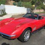 1969 Chevrolet Corvette, red, 2 door, convertible