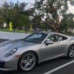 2017 Porsche 911, silver, 2 door