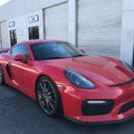 2016 Porsche Cayman GT4, 2 door, red