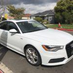 2015 Audi A6, white, 4 door