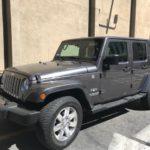 2016 Jeep Wrangler, 4 doors, gray