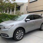 2016 Acura MDX, 4 doors, silver